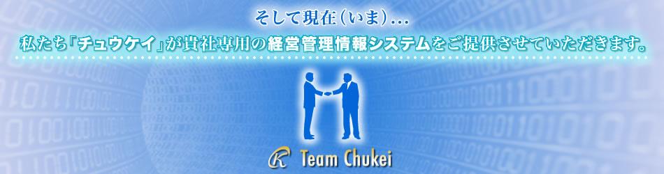そして現在、私たち「チュウケイ」はソフトウェアの開発を通してお客様のビジネスに貢献します。